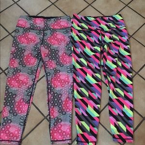 Lot of 2 VS Sport leggings size LARGE SHORT